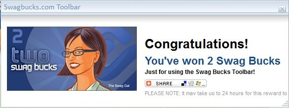 Earn Daily Swagbucks With the Installed Toolbar