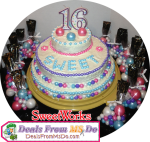 Sweet Sixteen Birthday Cake with SweetWorks