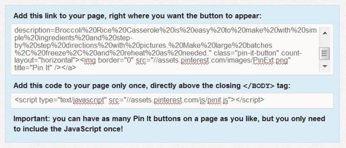 how to add pinterest pin it button to wordpress blog