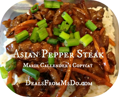 Asian Pepper Steak Copycat
