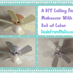 A DIY Ceiling Fan Makeover With a Dot of Color