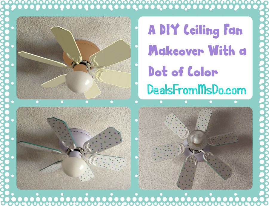 A diy ceiling fan makeover with a dot of color dealsfrommsdo a diy ceiling fan makeover with a dot of color aloadofball Image collections