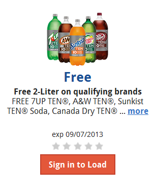 Kroger free soda