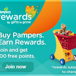 Up to 155 Pampers Gifts to Grow Points for Freebies