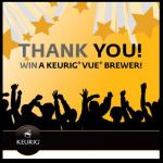 100 Keurig Vue Brewers Giveaway