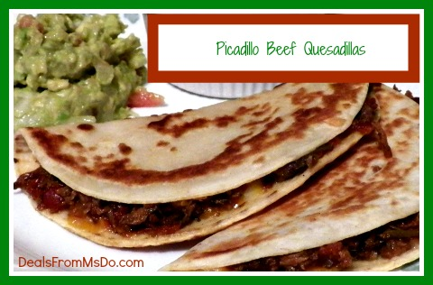 Picadillo Beef Quesadillas