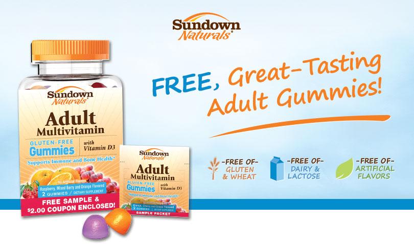 Sundown Naturals Adult Gummies Vitamin Sample