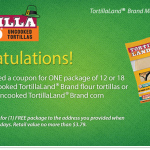 Free Package of TortillaLand Tortillas