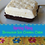Spring Fling Brownie Ice Cream Cake