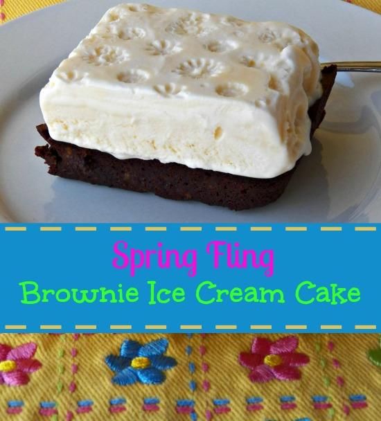 Brownie Ice Cream Cake