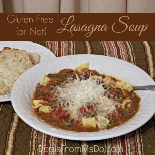 Gluten Free (or Not) Lasagna Soup - DealsFromMsDo.com