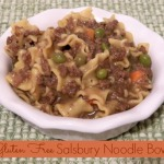 Salisbury Noodle Bowl and it Can be Gluten Free