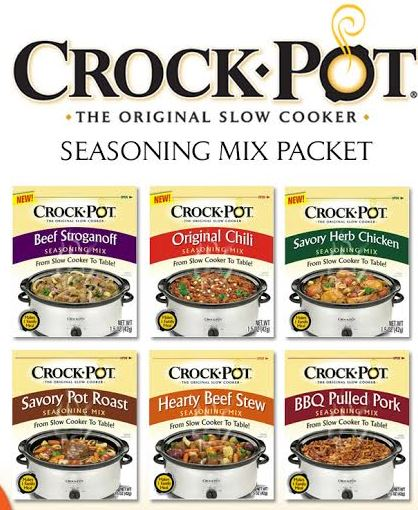 Free Sample Of A Crock Pot Seasoning Mix Packet Dealsfrommsdo Com