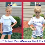 End of School Year Memory Shirts for Kids
