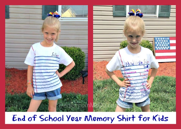 End of Year Memory Shirts for Kids