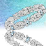 6 Ct Aqua Bracelet $319.99