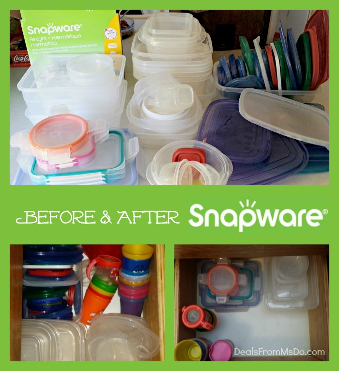 Before & After Snapware Airtight Plastic Food Containers