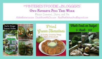 #PinterestFoodie - Weekly Recipe Linky for 8/18/14