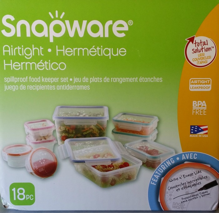 Snapware Airtight Plastic Food Containers, 18-Piece Set