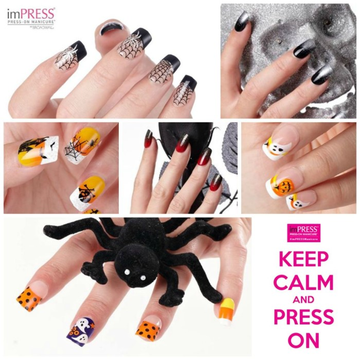 Kiss and Broadway Halloween Nails Designs