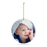 Personalized Flat Porcelain Ornament