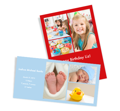 Starting at 12.99. See site for details. Personalized Collage Cards - Photo Collage Cards - Custom Greeting Cards. Feature up to 20 of your favorite photos on each card. Personalize with a title, message and background color. 100% Satisfaction Guaranteed.
