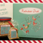 Reindeer Dust Recipe, Printable Labels, and Book Review