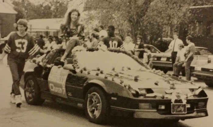 1987 Tissue Paper Flower Homecoming Float