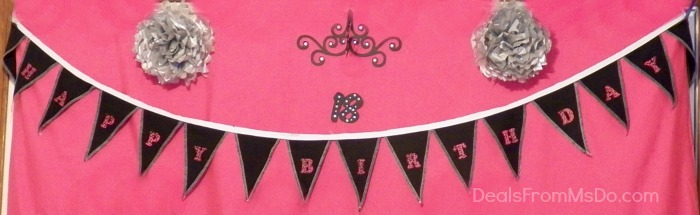 Birthday Banner with Tissue Paper Flowers
