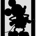 Mickey Mouse Paper Lanterns for Silhouette with Paint.net