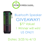Bluetooth Speaker Giveaway by Zoom Power Bank