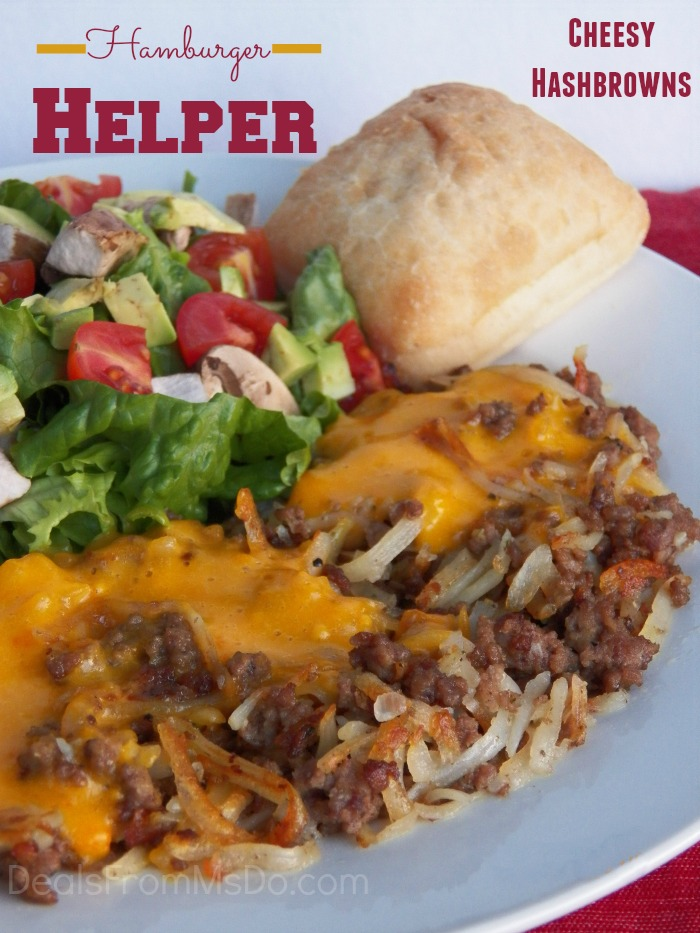 Hamburger Helper Cheesy Hashbrowns